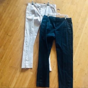 TWO Pairs of Theory Work Pants Sz 6